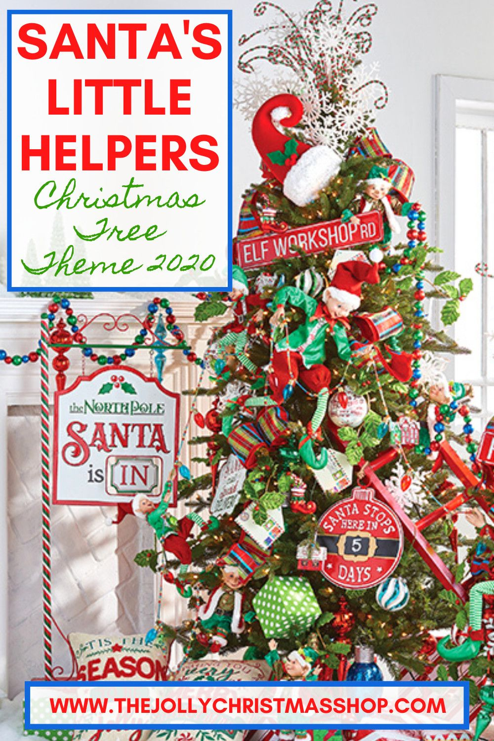 New For 2020 Santa S Little Helpers Christmas Tree Theme Getting Christmas Ready Is H In 2020 Elf Christmas Tree Elf Christmas Decorations Christmas Tree Themes