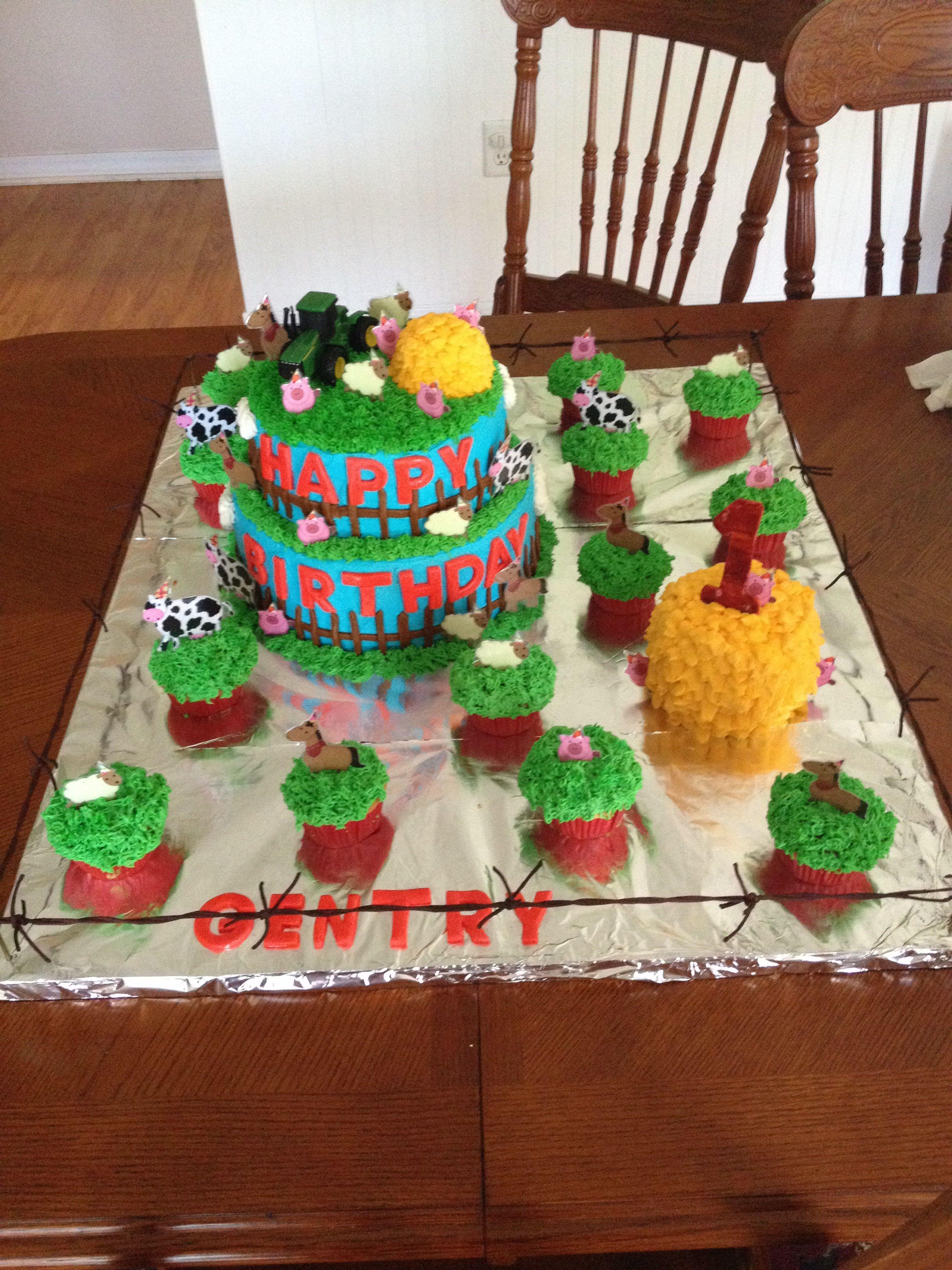 Farm birthday cake Animal cake Kids birthday cake Boy birthday cake