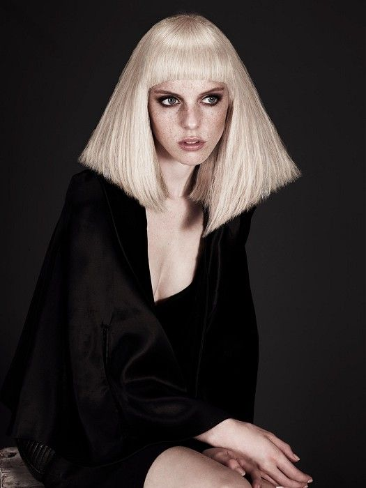Large image of medium blonde straight hairstyles provided by McIntyres. Picture Number 20657