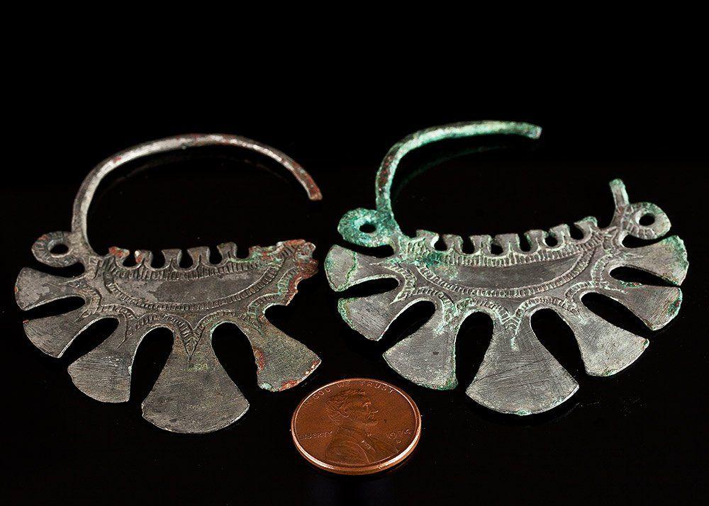 482 7 8th C Antiquities Silver Viking Earrings Lot 482 Viking Jewelry Vikings Historical Jewellery