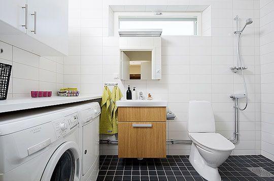 Laundry/Bathroom Combinations from Innerspec #bathroomlaundry