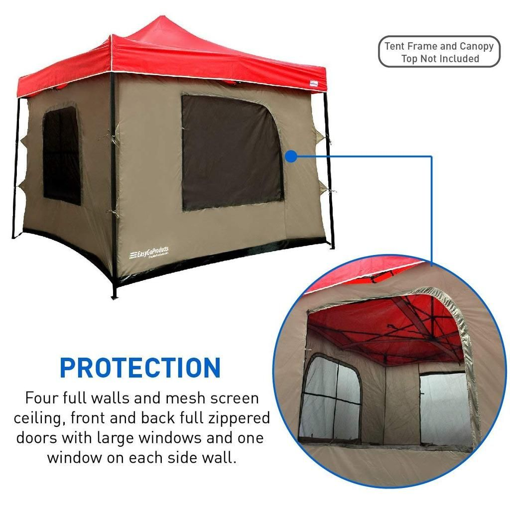 Unique Full Enclosure With Four Full Walls Mesh Ceiling And Pvc Floor That Attaches To Any 10x10 Pop Up Tent Frame Tent Family Tent Camping Pop Up Canopy Tent