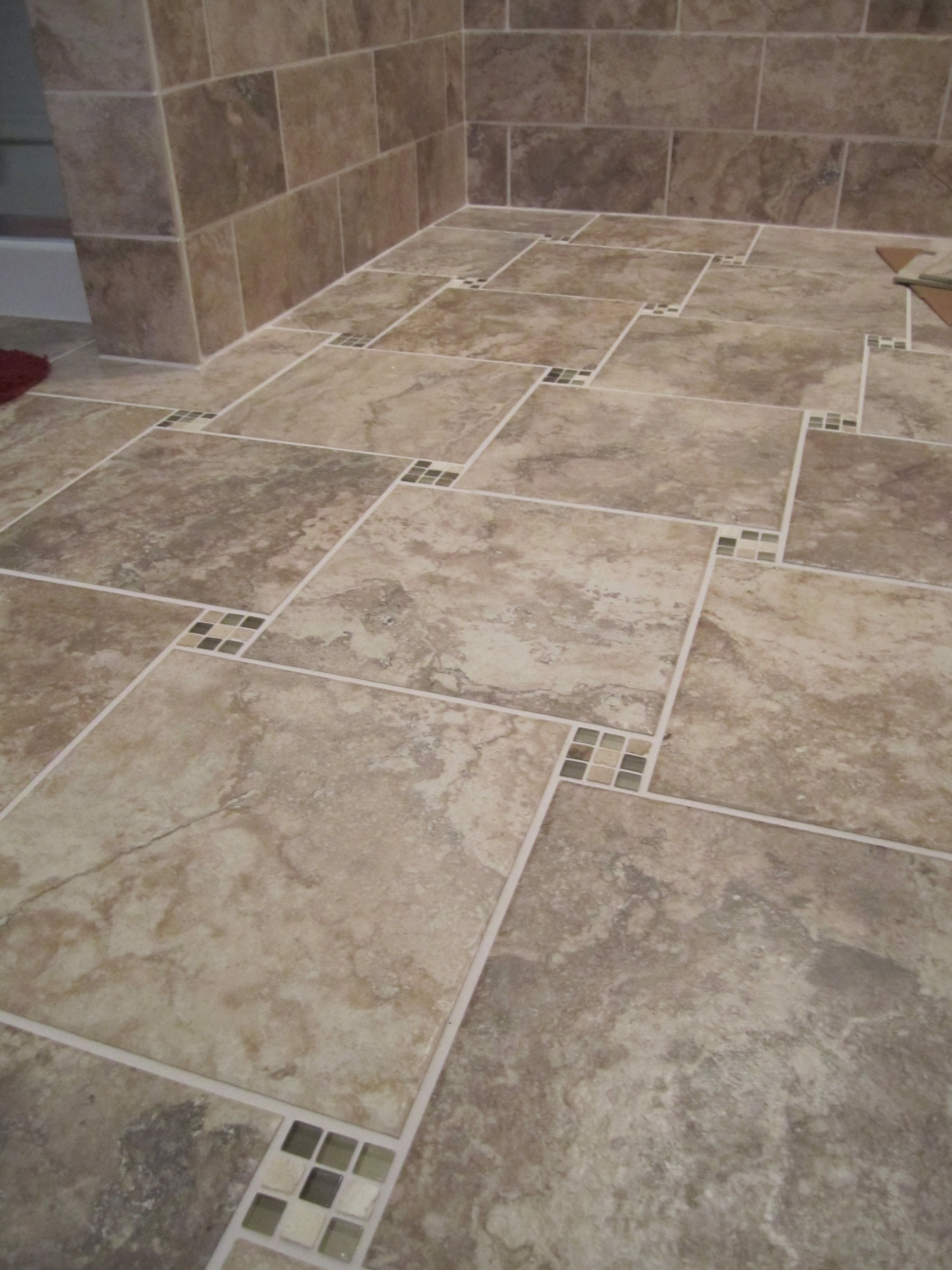 Tiled Bathroom Floor In This Year S Hot Color Tone Greige With