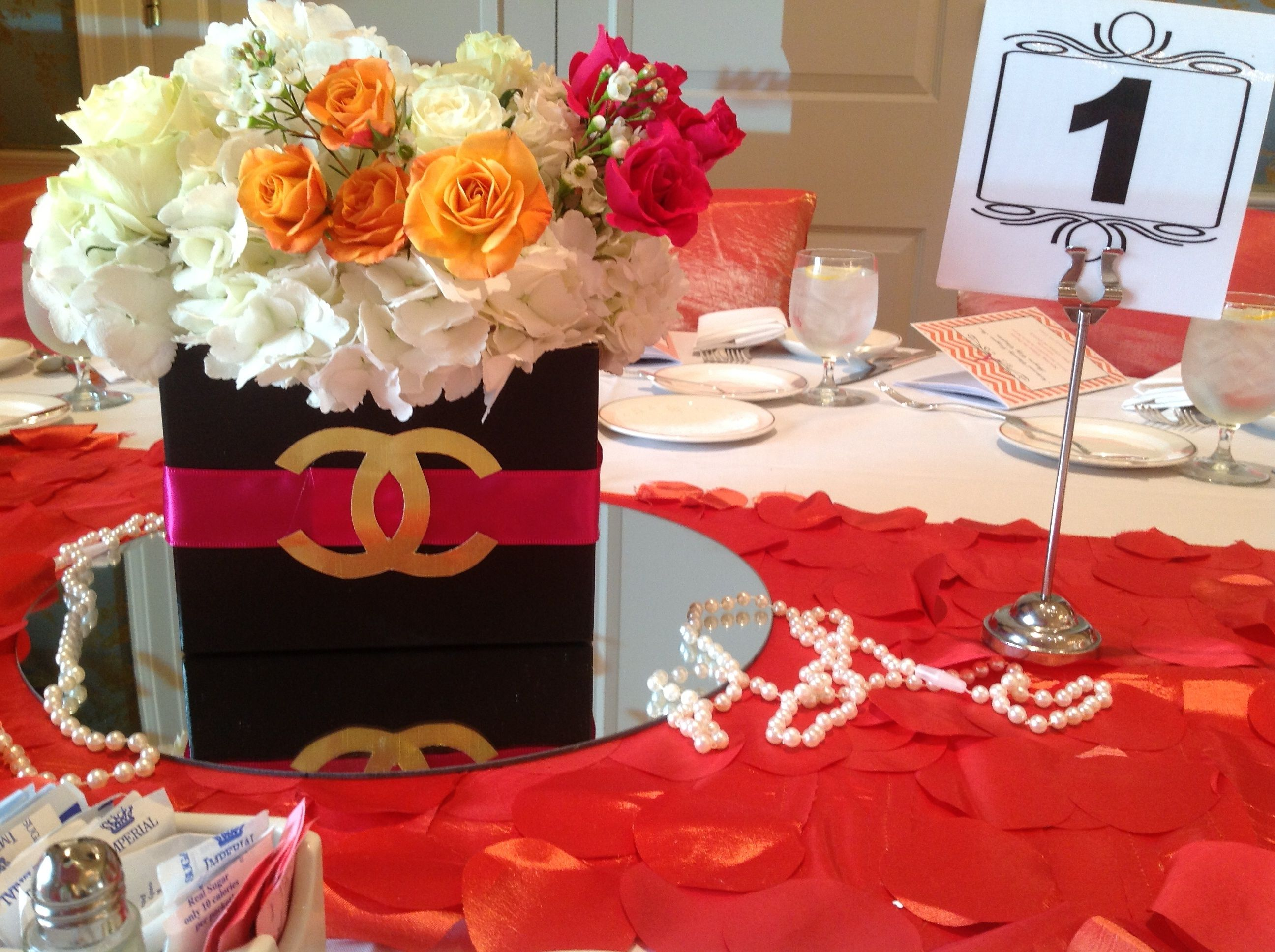 Faux Chanel Centerpieces At Springtime In Paris Ncl Fashion Show