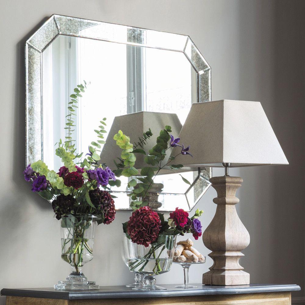 Specchio bordo obliquo H 100 cm | Specchio, Soggiorno e Bagno
