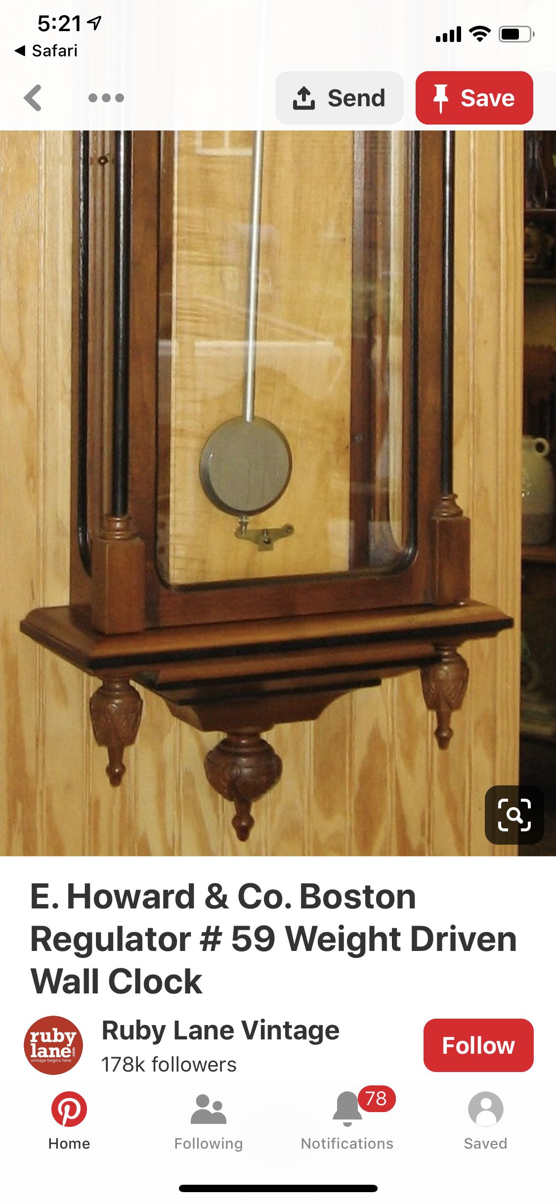 Pin By Andrea Crawmer On Wall Clock Antique Wall Clock Wall Clock Clock