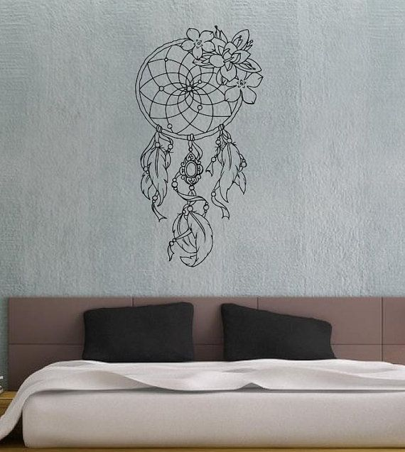 dreamcatcher dream catcher feathers housewares wall vinyl. Black Bedroom Furniture Sets. Home Design Ideas