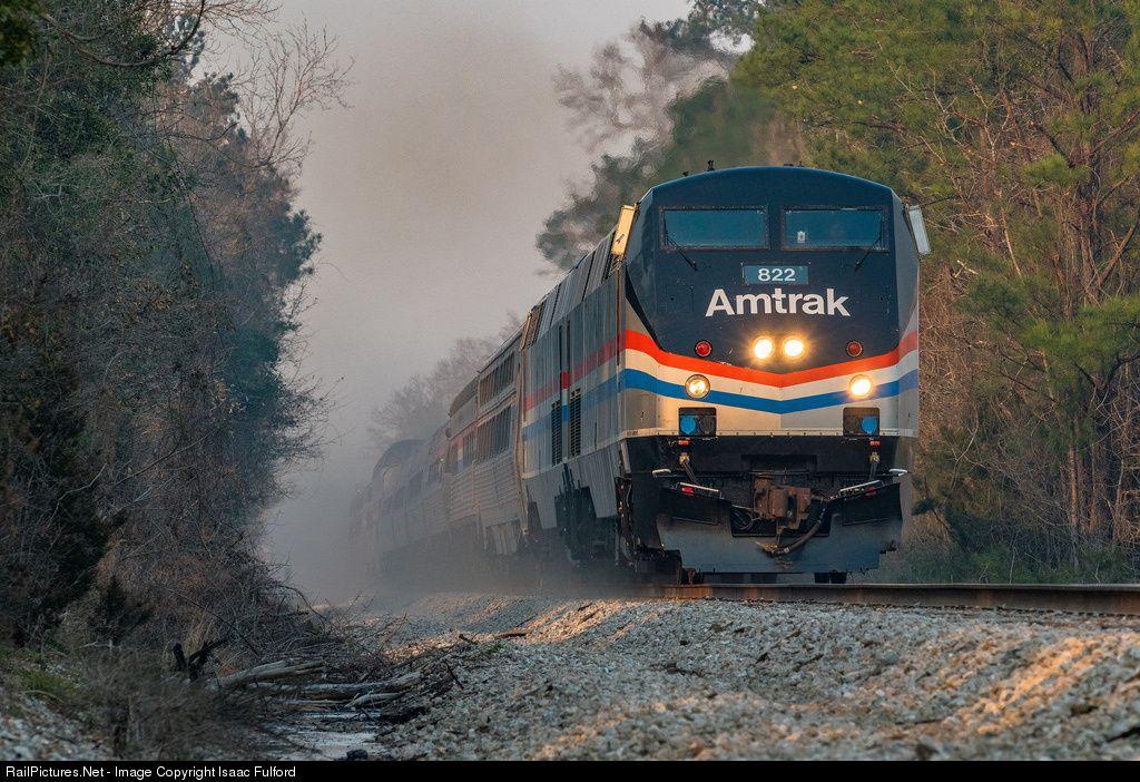 AMTK 822 Amtrak GE P40DC at Century , Florida by Isaac