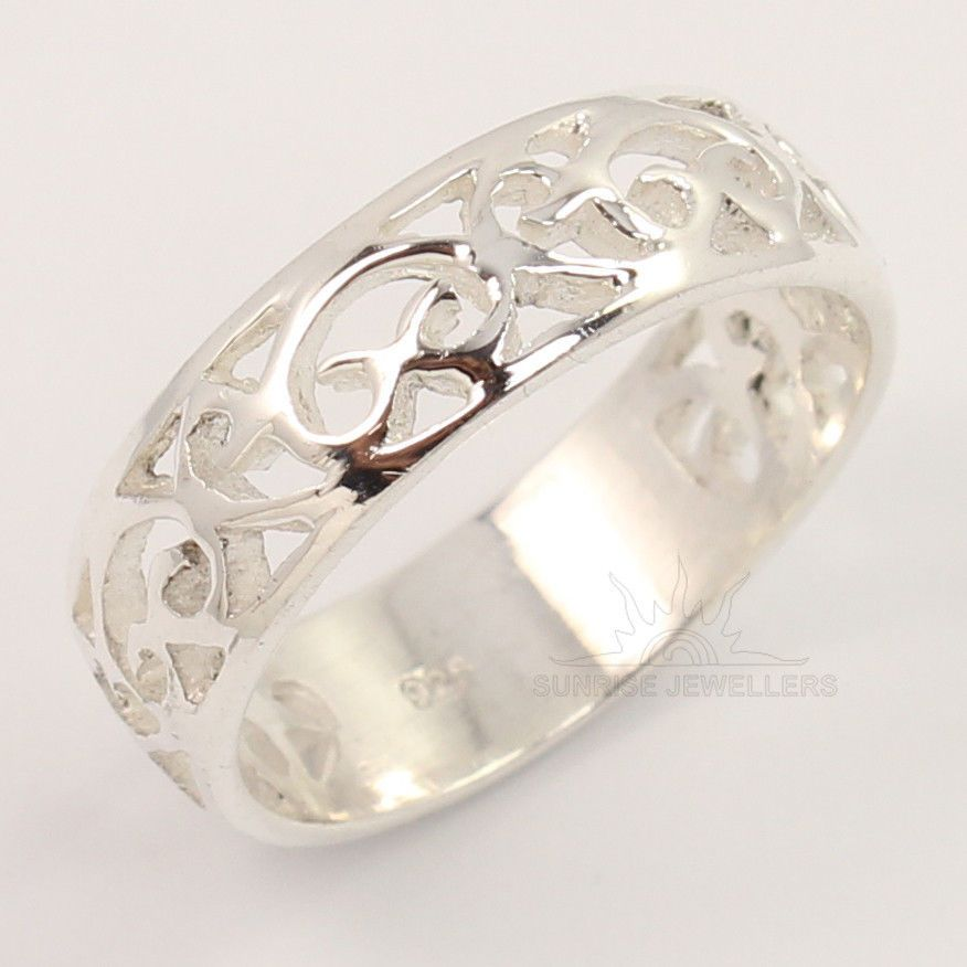 925 Sterling Silver 6 5 Mm Plain No Stone Band Handmade Designer Ring All Sizes Silver Jewelry Design Silver Jewellery Indian Mens Silver Rings
