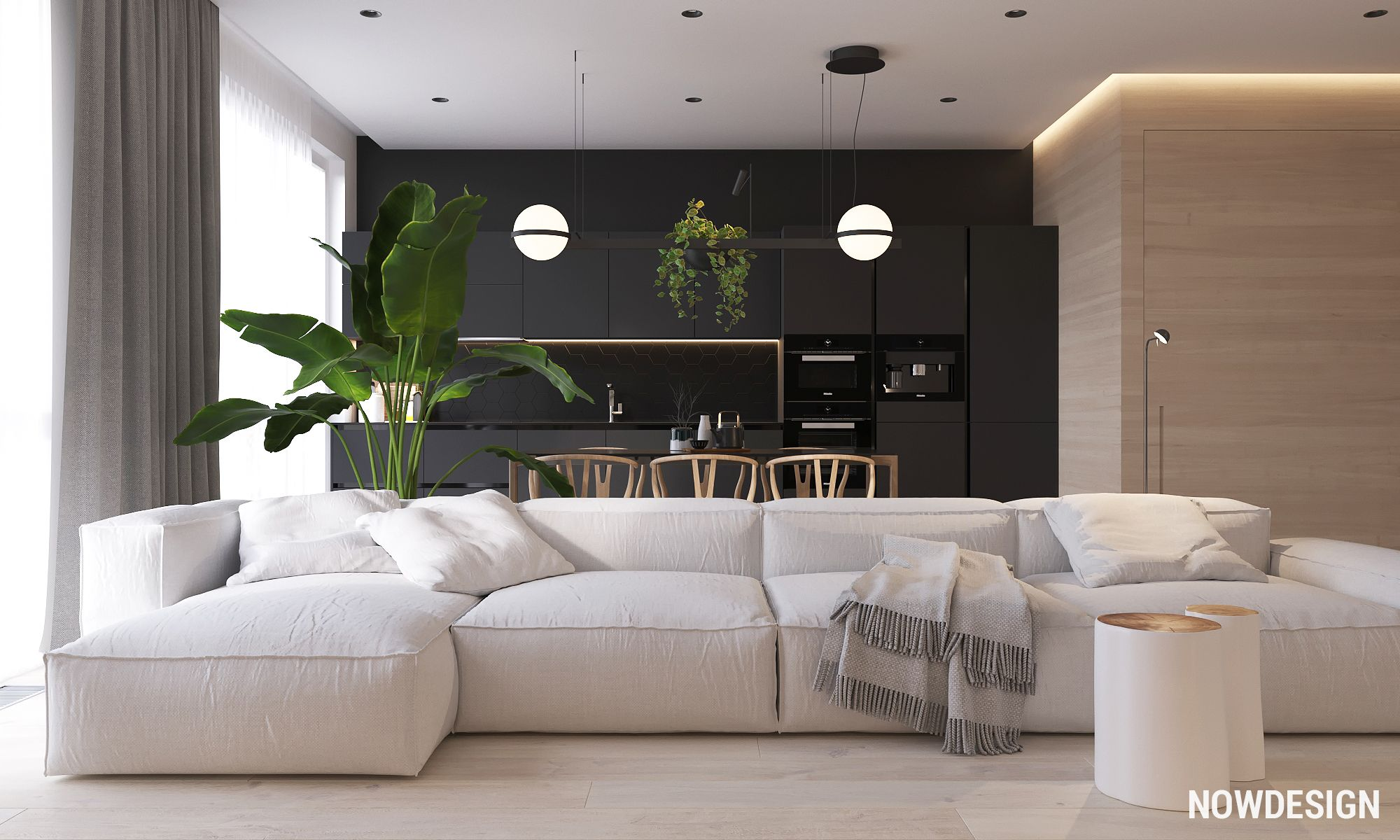 bedroom plant design ideas interior furniture | My new project. Apartament in Moscow. | ID Design Appart ...
