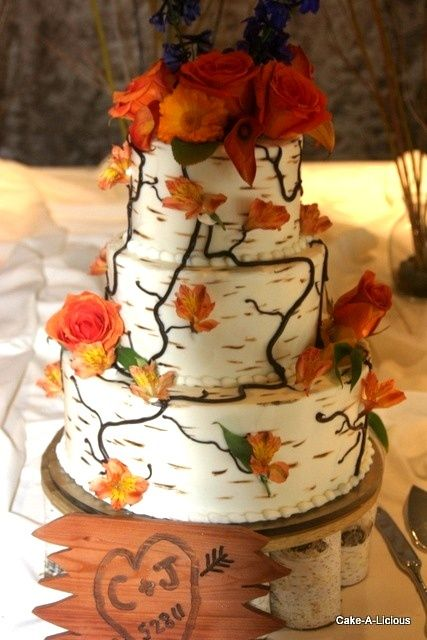 Birch Tree Wedding Cake Amazing To Resemble A For Woodsy Picture