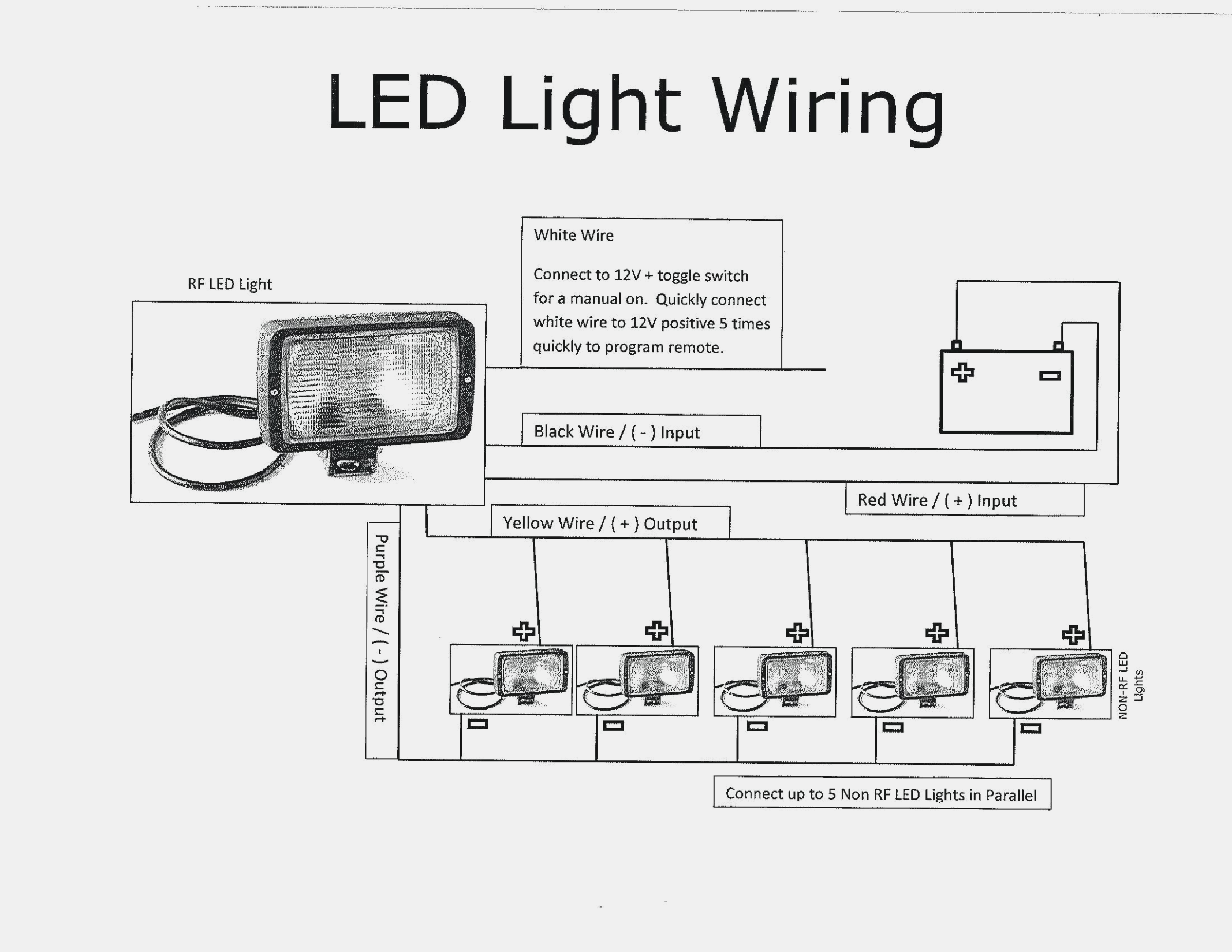 3 Wire Remote Wiring Diagram Led Light