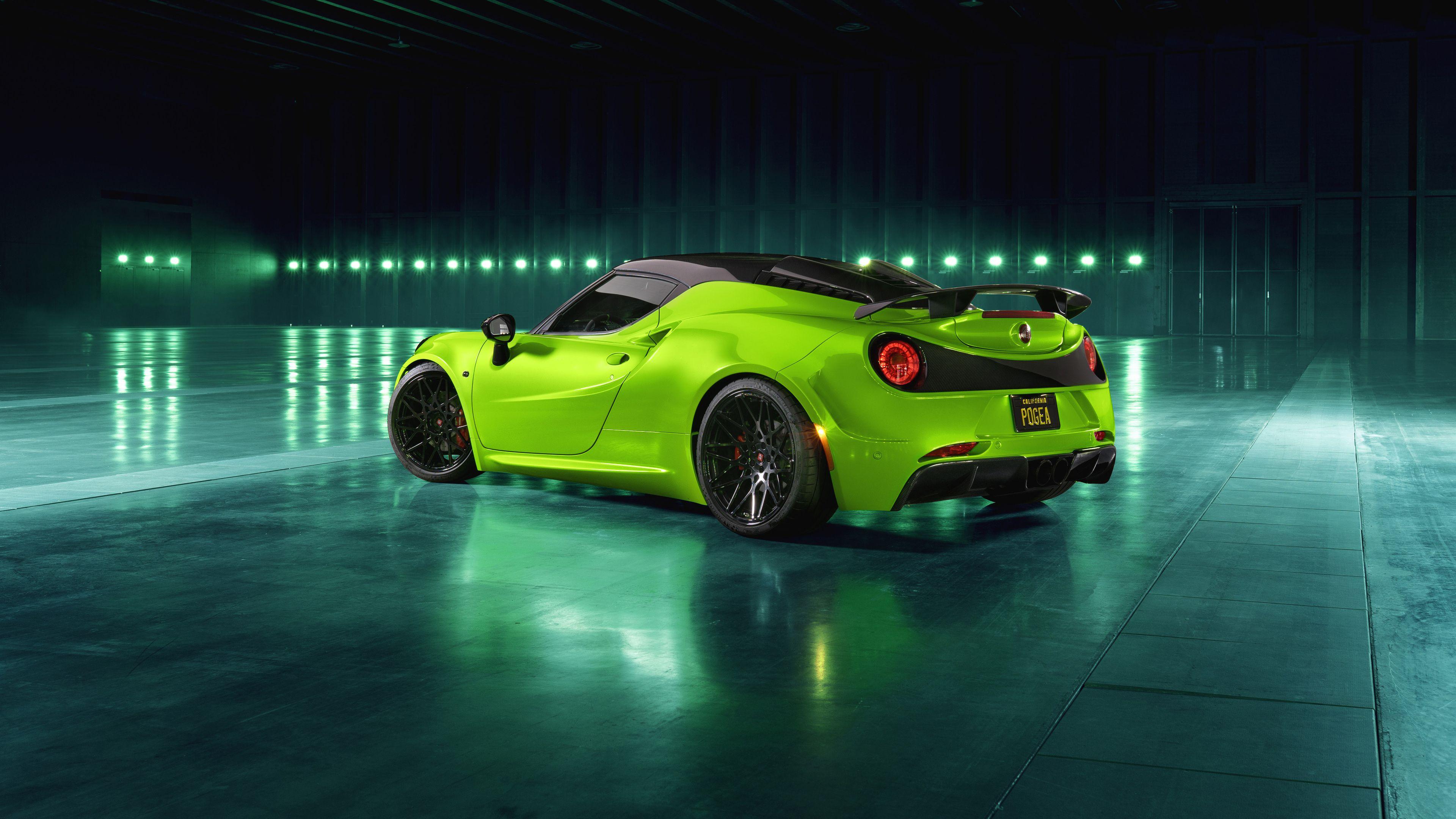 Wallpaper 4k Pogea Racing Centurion Green Arrow 2018 Rear View