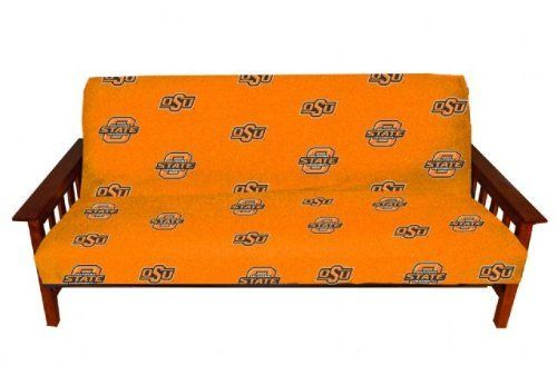 """Oklahoma State Cowboys Full Size Futon Cover From College Covers Full Size by College Covers. $33.95. Machine washable and fits full size futons 6""""-10"""" thickness. Officially licensed.. The ideal accent for a den, dorm room, or rec room, the NCAA® full-size futon cover from College Covers shows everyone where your loyalties lie. It features a three-sided zipper for easy removal and is decorated with school logos. The durable cotton duck fabric will stand up to the most ard..."""