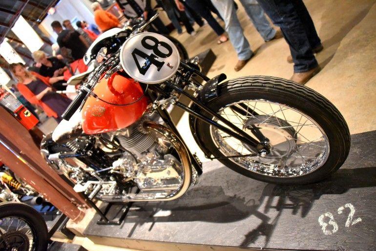 Kevin Rickbeil's classic Italian Gilera Saturno 500cc Single cylinder (Photo: Vicki Smith/...