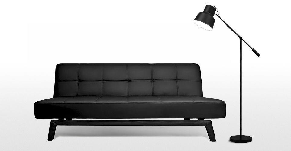 Yoko Canape Convertible Noir De Jais Sofa Bed Black Sofa Bed