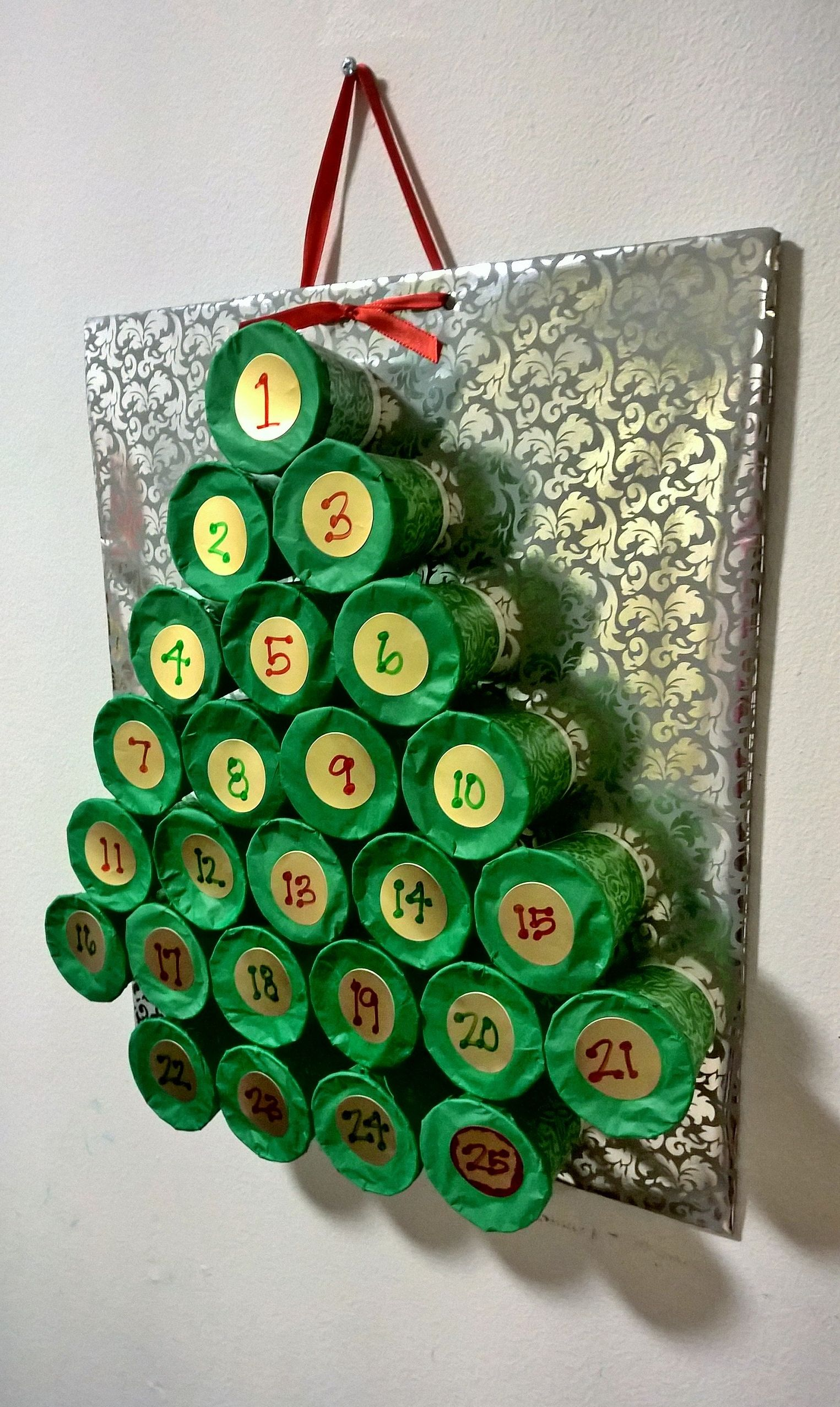 Diy Advent Calendar Made With Dixie Cups Advent Calendars For Kids