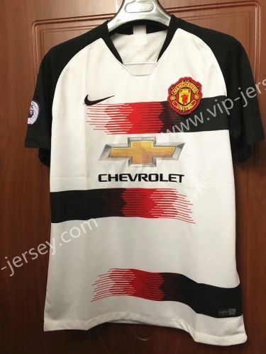 size 40 1d198 8f95b 2019-2020 Manchester United Home White Thailand Soccer ...