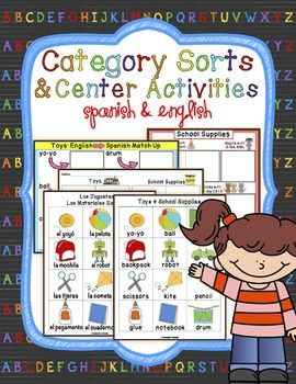 Category/Concept Sorts & Center Activities in Spanish & English