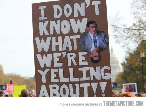 I want to protest with this sign.
