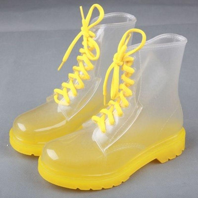Shoespie Versatile Illusion Candy Color Waterproof Boots