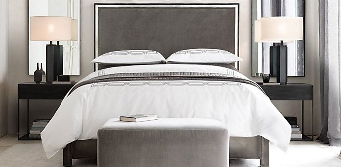 Strand Upholstered Bedroom Collection Restoration Hardware