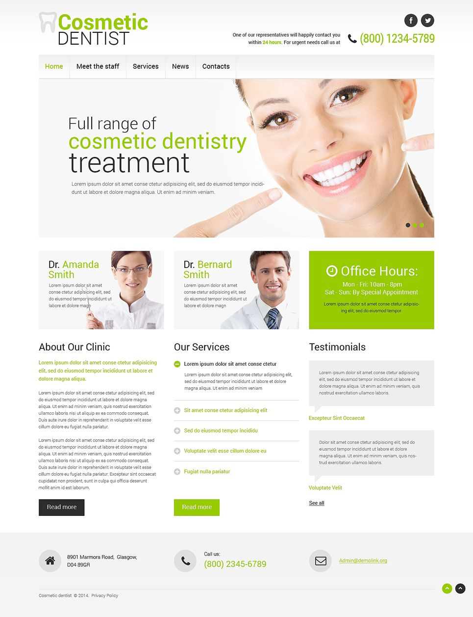 Dentistry Responsive Website Template Dentist Dentistry Dental