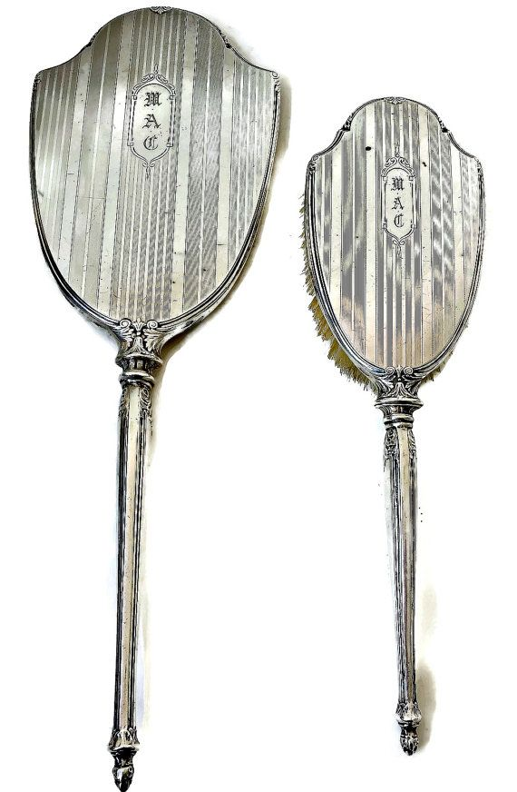 Antique Sterling Silver Womens Vanity Set This Antique