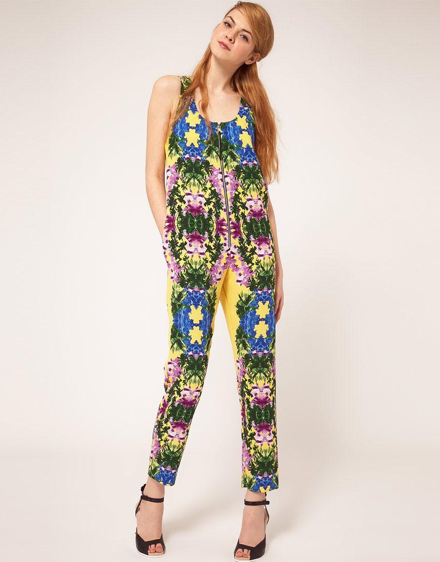 floral play suit