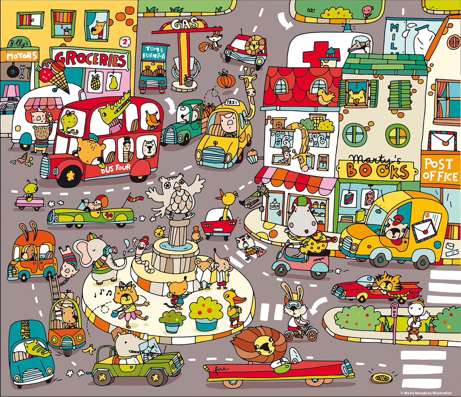 Busy Town Puzzle