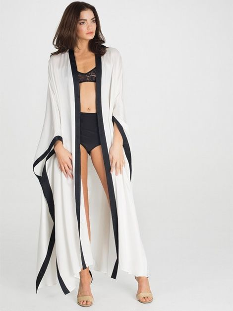 7e08efa3c8b New In Sheba Silk Long Bath Robe - Loungewear - Robe Luxury Lingerie and  Designer Lingerie Online Boutique