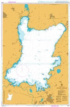 British Admiralty Nautical Chart 2163: Lough Neagh