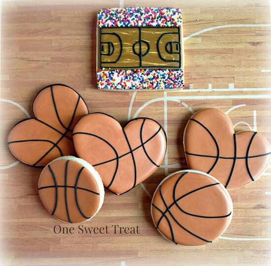 Basketball Heart Cookie Cutter Heart Cookies Decorated Heart Shaped Cookies Valentine Sugar Cookies