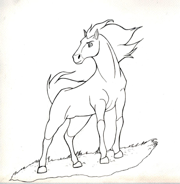 Spirit Lucky Disney Malvorlagen Horse coloring pages