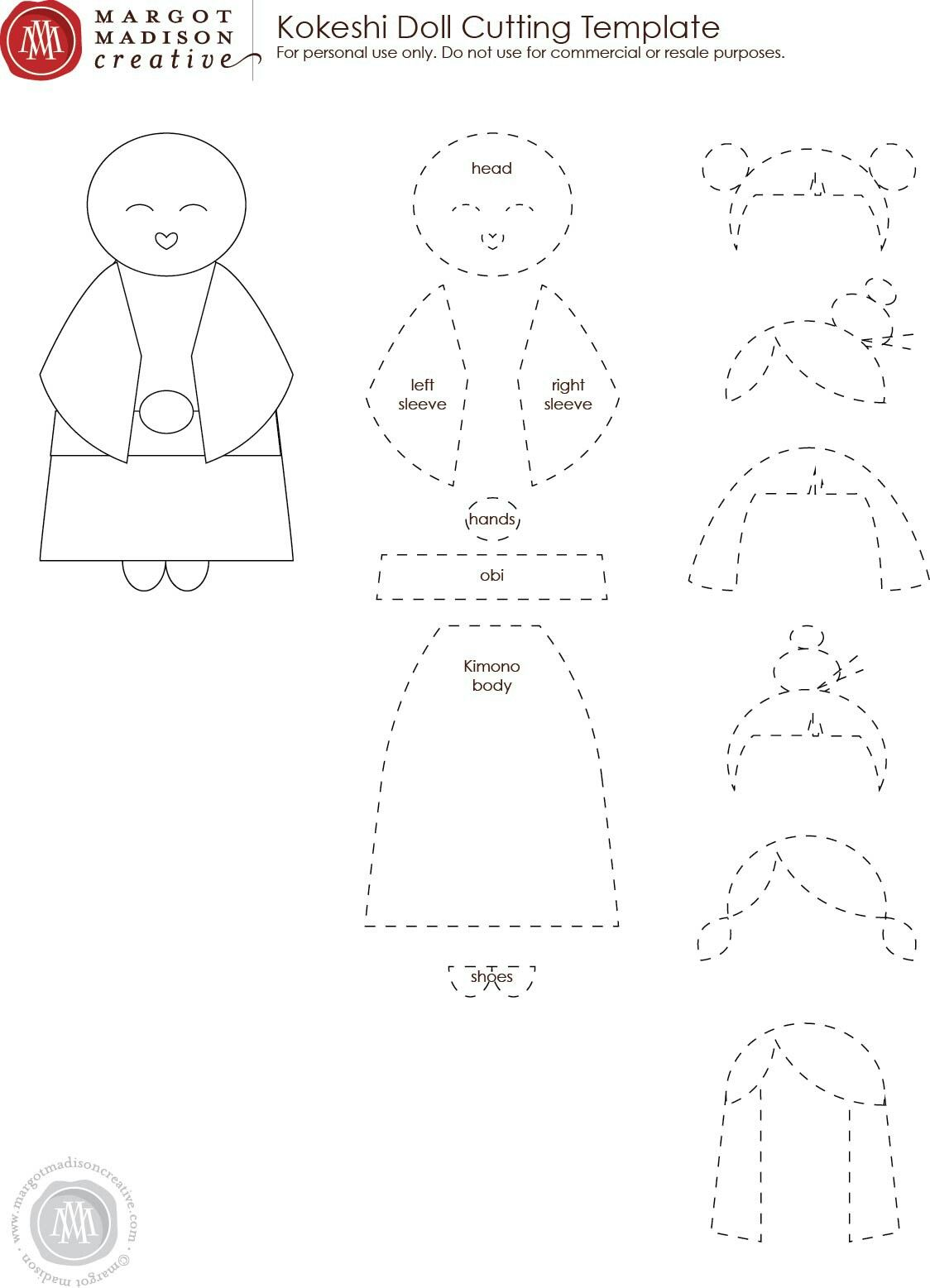 patterns paper doll