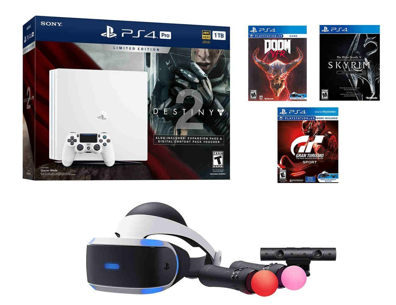 PS4 SciFi Bundle (7 Items) PS4 Pro 1TB Console with
