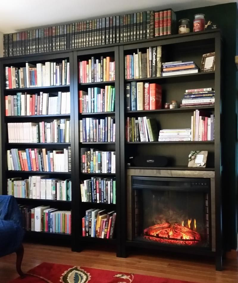 Bookshelf Or Fireplace I Couldn T Decide Ikea Hackers Fireplace Bookshelves Electric Fireplace Guest Bedroom Remodel