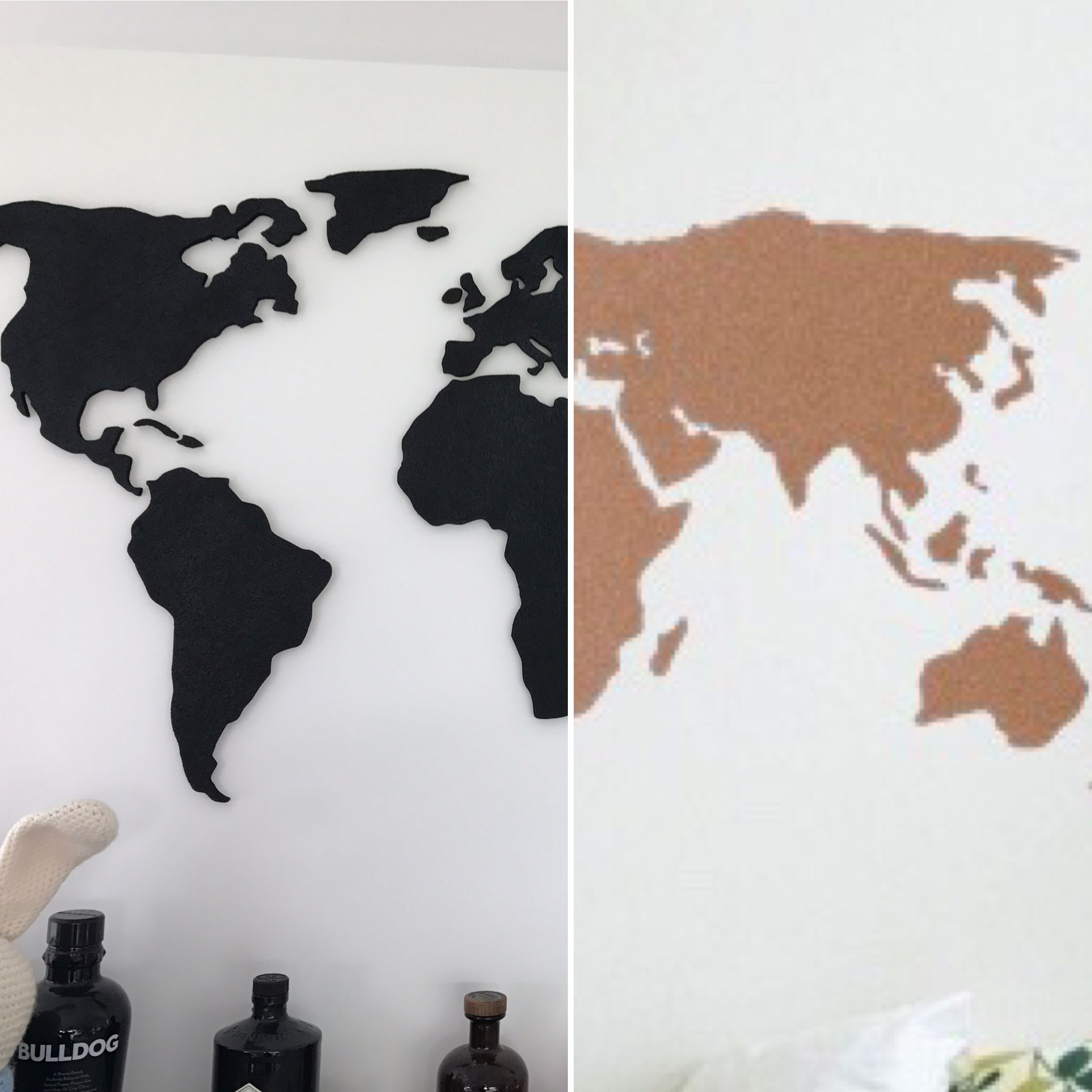 Which one do you prefer natural of black cork world map by natural of black cork world map by beauvis gumiabroncs Images