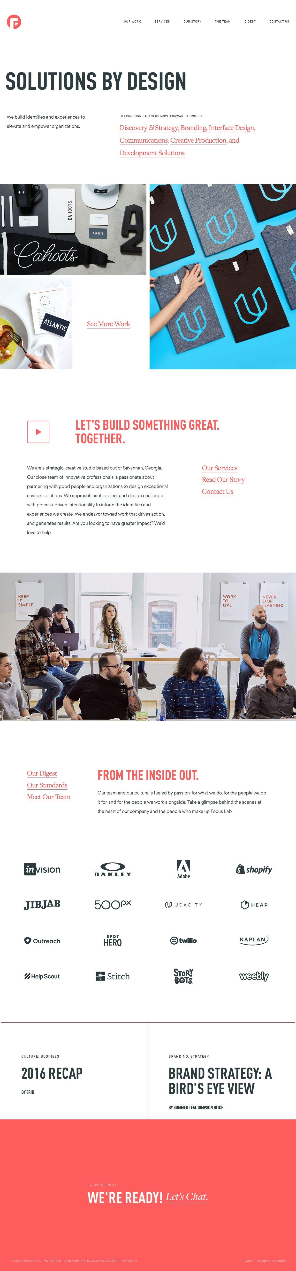 Focus Lab Solutions By Design Best Landing Page Design Design Web Design