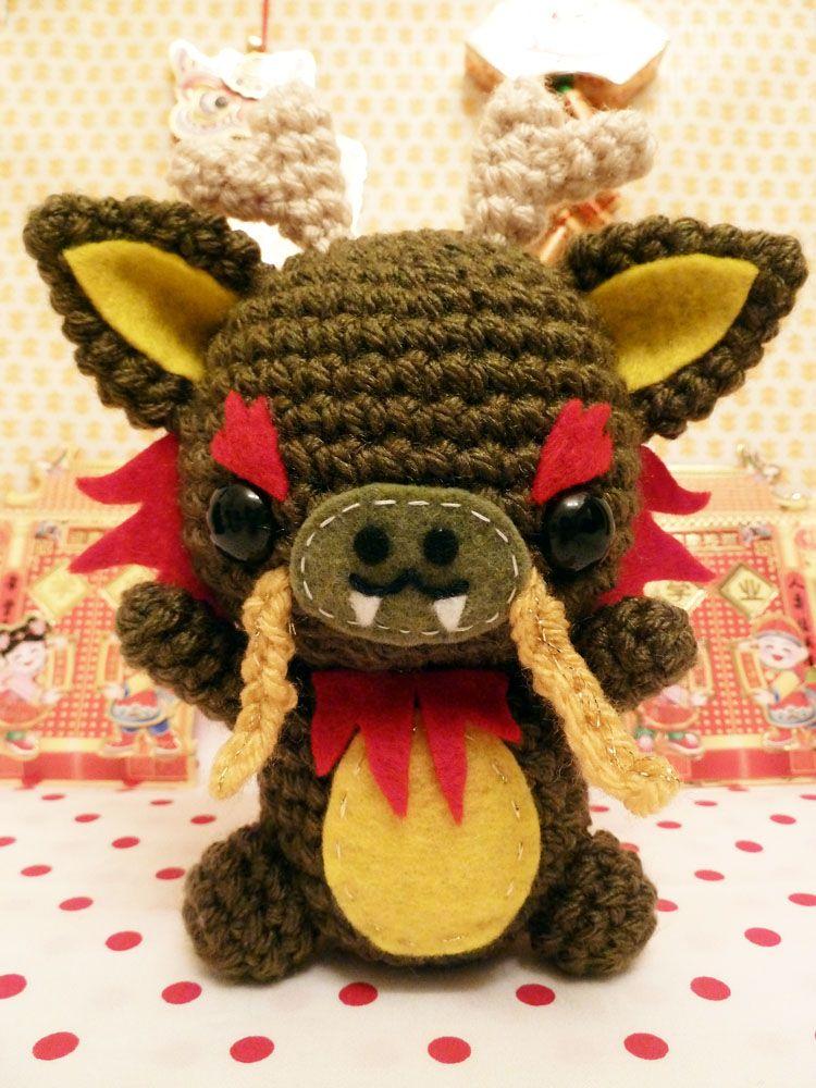 Chinese Dragon Amigurumi Pattern : Chinese dragon amigurumi no pattern crocheting dreams