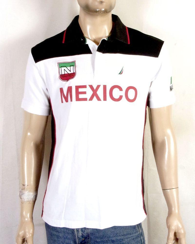 Euc Nautica Rugby Polo Shirt Sailing Jersey Mexico Casual Collar Slim Fit M Polo Shirt Mens Polo Shirts Mens Tops