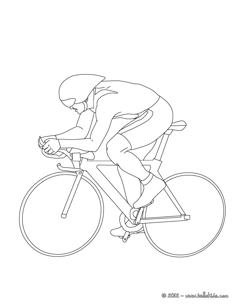 print out and color this track cycling sport coloring page more sports coloring pages on - Sports Coloring Sheets To Print