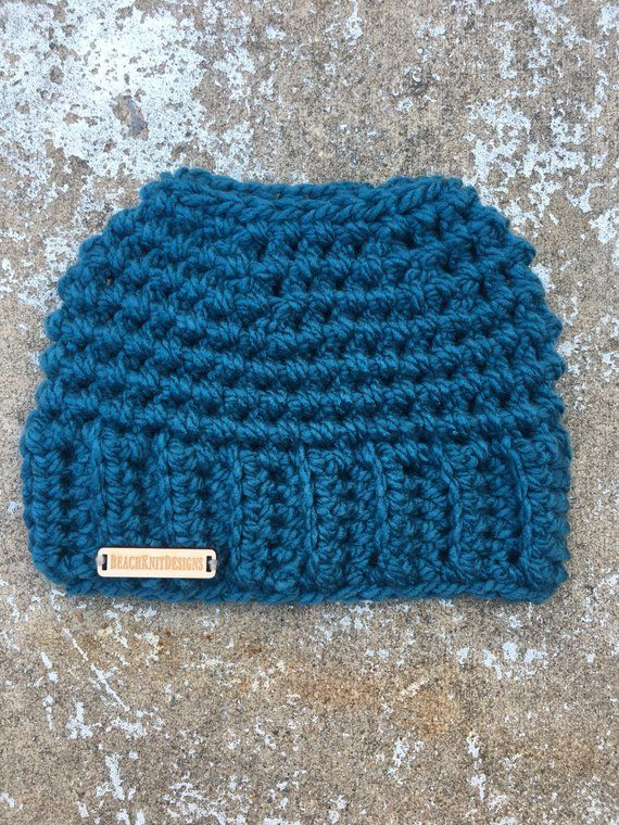 Messy Bun Hat, Ponytail Hat, Messy Bun Beanie, Ponytail Beanie, Crochet Messy Bun, Crochet Ponytail Hat #messybunhat