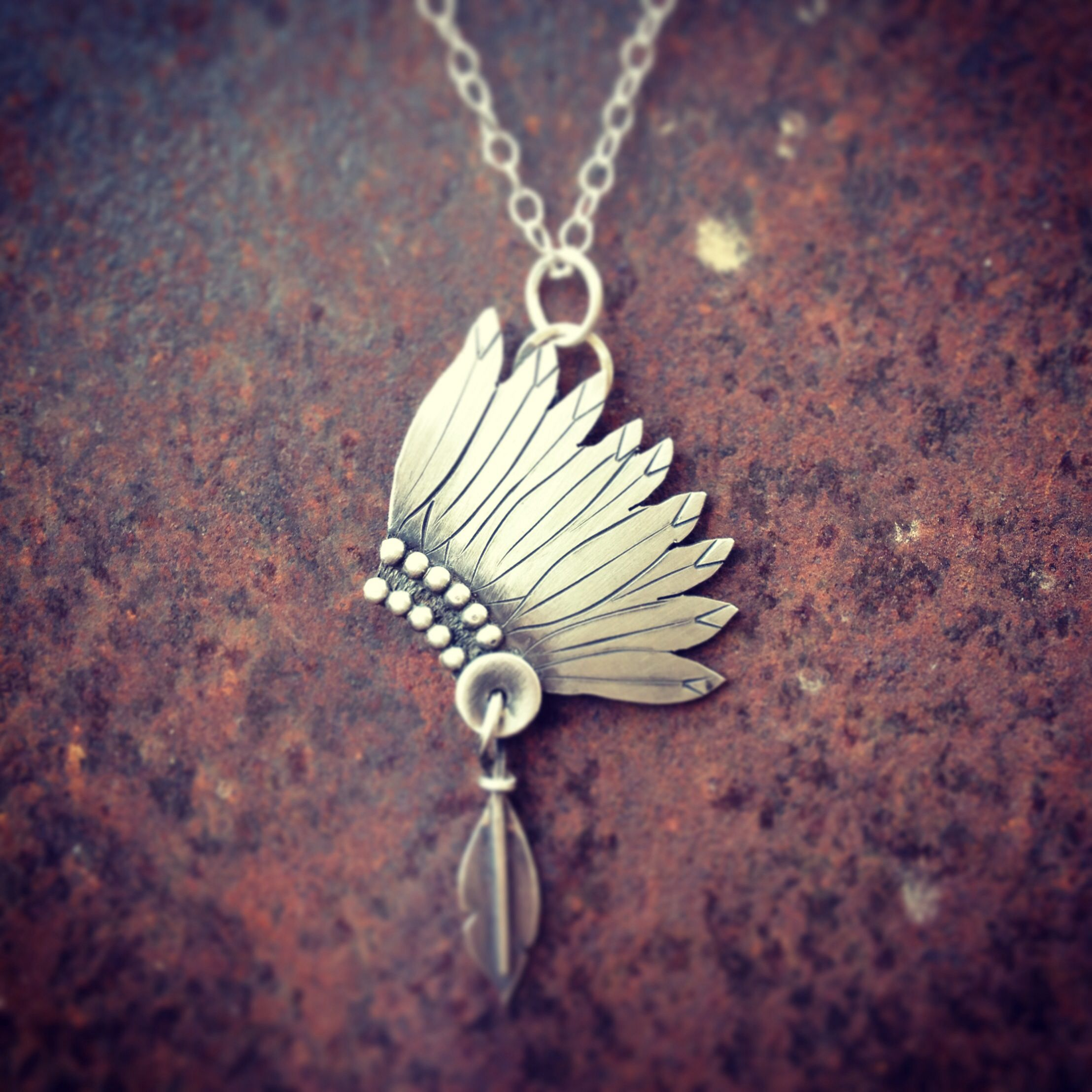 american longhorn feather necklace tibetan silver t