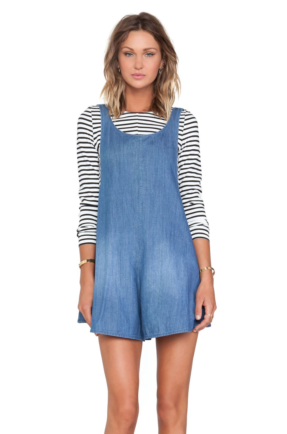 Alice McCall Sahara Noir Playsuit in Chambray
