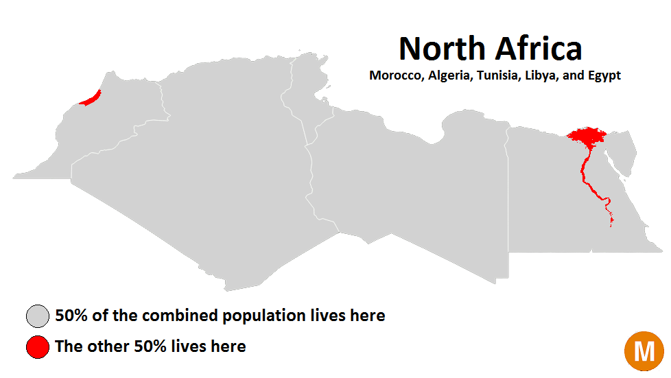 Half of north africas population lives in the grey areas half world maps morocco egypt half of north africas population lives in the grey areas half lives in the red gumiabroncs Choice Image