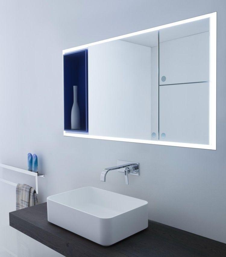 Miroir Salle De Bain Lumineux En 55 Designs Super Modernes Salle De Bain Design Miroir Salle De Bain Et Salle De Bain