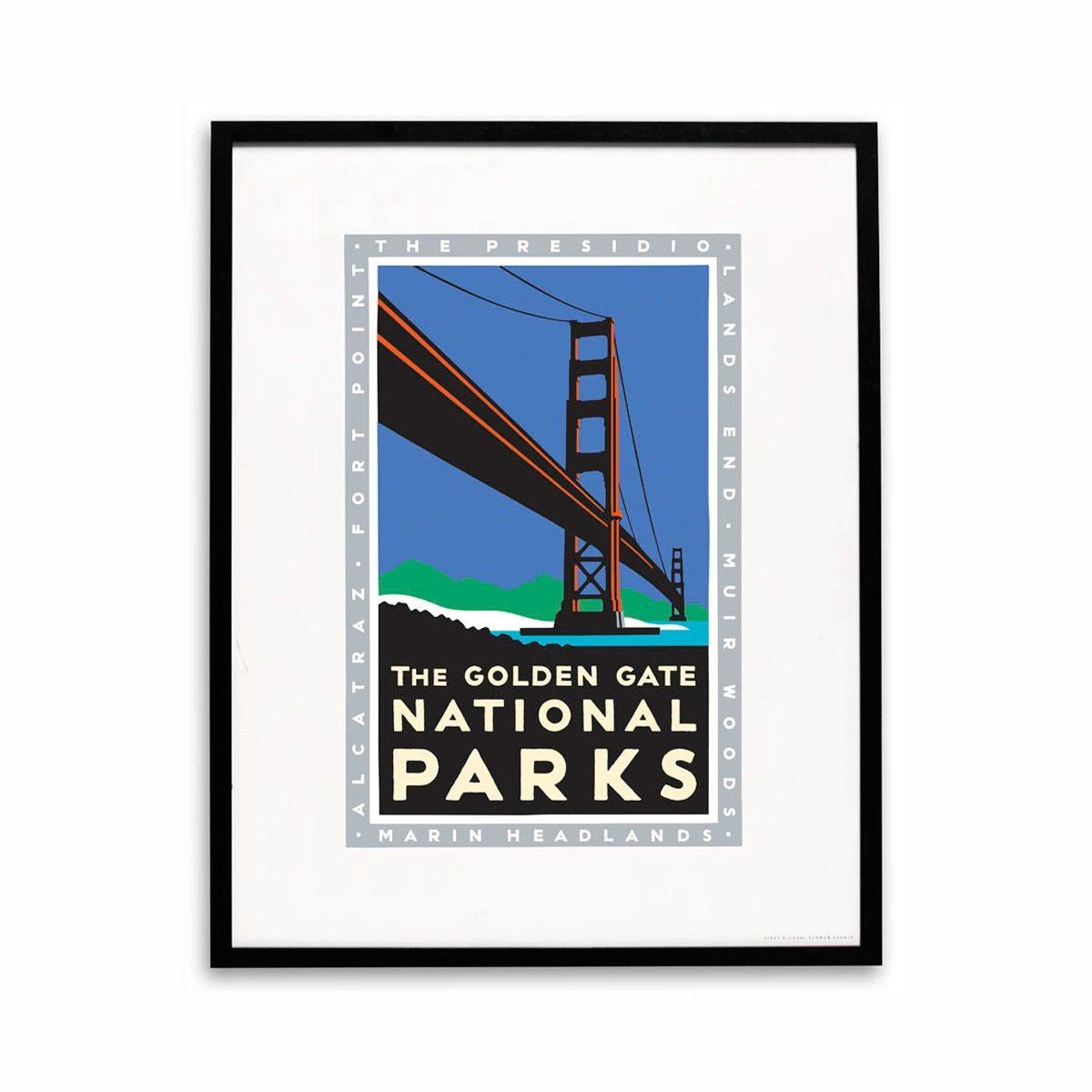 Framed Poster Golden Gate National Parks National park