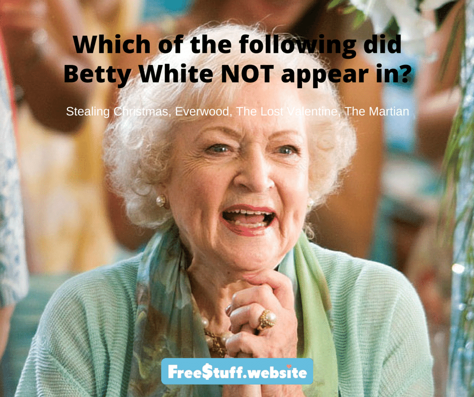 Trivia Question Legendary Lady Trivia Questions Freestuff Website Trivia Questions Betty White This Or That Questions