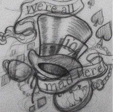 Designs mad hatter tattoo 30 Alice